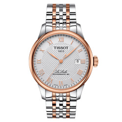 Tissot Le Locle Powermatic 80 Automatic Rose Gold Stainless Steel Mens Watch