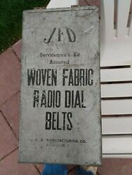 Vintage Antique Jfd Servicemanand039s Kit 77 Assorted Woven Fabric Radio Dial Belts
