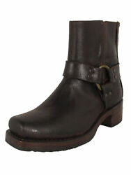 558 Frye Womens Heirloom Harness Back Zip Up Suede Boots Chocolate Us 7
