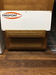Vintage...freeport Oil Company...porcelain Oil Well Lease Sign Texas Gas