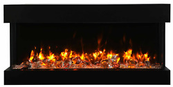 Amantii Panorama Tru View 40 Inch Extra Slim Built-in Linear Electric Fireplace