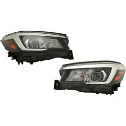 Set Of 2 Headlights Lamps Left-and-right 84001sj060 84001sj070 Lh And Rh Pair