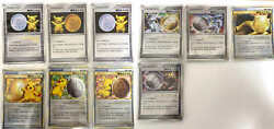 Pokemon Card Game Medals Of Victory 9set Pikachu Promo Arceus Gold Silver Bronze