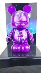 Disney Le Tinkerbell Purple 9 Inch Vinylmation With Stand By Noah Elias Signed