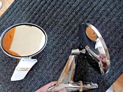 Nosvintage Classic Chrome Twin Sport Round Car And Truck Side View Mirrors