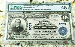 1902 10 Pittsburgh Pennsylvania National Currency Pmg 45 Epq
