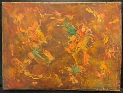 Vintage Abstract Old Painting 3