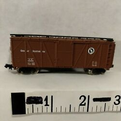N Scale Freight Car 40' Box Gn Great Northern Brown Bachmann Hk Exc