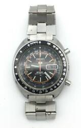 Auth Seiko Watch 5 Sports Timer Automatic 7017-6020 Vintage Antique F/s