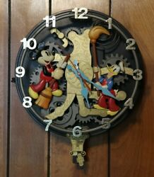 Rare Disney Mickey Animated Talking Wall Clock Works Well - See Video