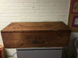 """Antique Vtg Xl Shipping Grate Box Trunk Montgomery Wards 43 X 19 X 13"""" Tall Rare"""