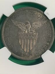 Us Philippines Fifty Centavos 1904-p Ngc Ms 62 Semi Key Date, Toned