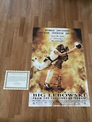 The Big Lebowski 27x40 Autographed Movie Poster, 6 Signatures With Coa