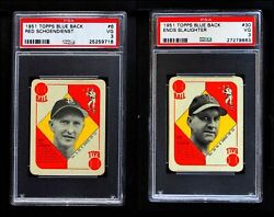 1951 Topps Blue Back Almost Complete Set 2.5 - Gd+
