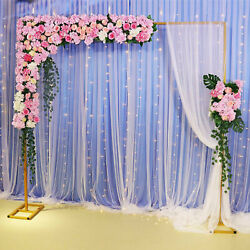 Rectangle Wedding Arch Backdrop Birthday Party Metal Stand 33m Durable And Stable