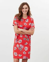 Joules Womens Liberty Print A Line Jersey Dress - Red Floral