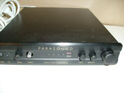 Parasound Zpre2 Zone Preamplifier No Remote As Is Not Tested