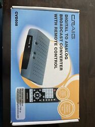 Craig Digital to Analog Broadcast Converter with Remote Control CVD508 NEW