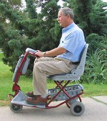 Tzora Classic Lightweight Scooter- 4 Wheel- Divides Or Folds -new- Free Ship