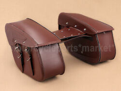 Leather Side Saddlebag Tool Pouch Waterproof For Harley Dyna Fld Fxdf Fxdc Fxdb