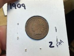 1909 Indian Head Cent / Indian Head Penny / The Last Year Lower Mintage