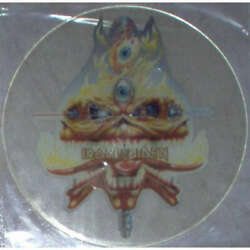 Iron Maiden The Clairvoyant Uk 1988 And039uncutand039 7 Test Press Shaped Picture Disc