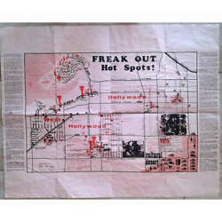 Zappa Mothers Of Invention Freak Out 'hot Spots' Map Usa 1966 Original Promo Set