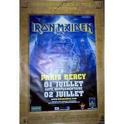 Iron Maiden Paris Bercy 01and02.07.2008 French Large Promo Concert Poster