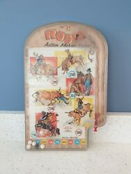 Rare Rodeo Vintage Antique Metal Pinball Ball Wolverine Toys Action Marble Game