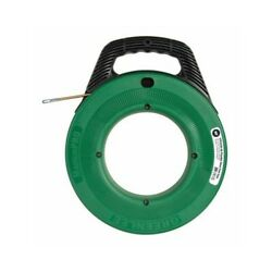 Greenlee Ftfs439-50 Magnumpro Flexible Steel Cable Fish Tape W/ Case 3/16 X 50'