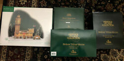 Dept 56 Dickens Village Big Ben +3. New In Boxes And Free Fast Shipping