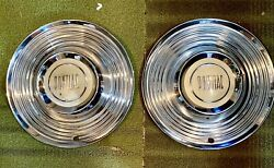 Pontiac Hubcaps Set Of 2 Unknown Year Vintage 50's Or 60's Possibly