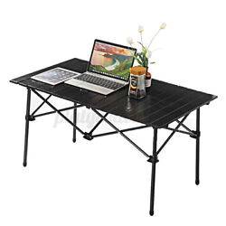 37x22in Foldable Desk Laptop Portable Picnic Table Outing Camping Bbq Party Us