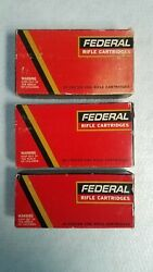 3 Vintage Federal Rifle Ammo Boxes 30-06, .308