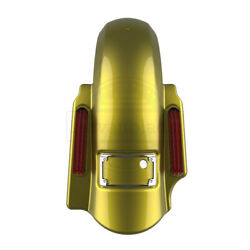 Eagle Eye Yellow Dominator Stretched Extended 2in1 Fender For 14+ Harley Touring