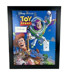 Toy Story Tom Hanks Tim Allen Autographed 16x20 Poster Photo Display Acoa