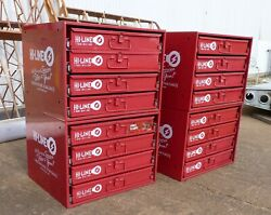 4 Lg. Hi-line Cabinets, 16 Trays Of Aviation Fasteners, Bolts, Screws, Washers.