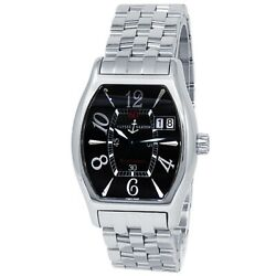 Ulysse Nardin Michelangelo Stainless Steel Automatic Black Menand039s Watch 233-68