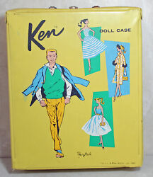 Barbie Ken Doll Ponytail Case And Acceossories