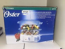 Oster 6.1 Qt. 2 Tier 5711 Food Steamer With Egg Cooker Tray/new In Opened Bo