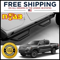 N-fab Nerf Bars Side Steps Textured Black For 2005-2015 Toyota Tacoma Double 2
