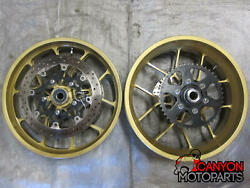 06-10 Suzuki Gsxr 600 750 Carrozzeria Vtrack Forged Al Wheels Front Rear Rotors