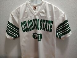 Vintage 80s Name Of The Game By Brazos Ncaa Colorado State Football Jersey, Xxl