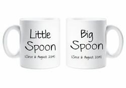 Personalised Mugs Big Spoon Little Spoon Couples Ceramic Personalized Novelty