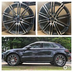 21and039and039 Inch Wheels Fit Porsche Macan S. With Tires 21x9and039and039 21x10and039and039 Staggered Turbo