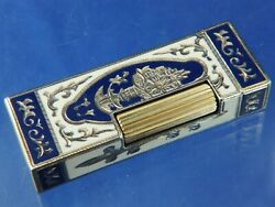 Dunhill Rollagas Lighter Engraved Lacquer Serviced Superb Vintage Swiss 1970s