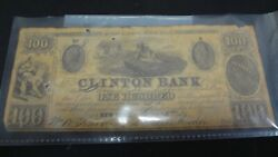 1839 100 The Clinton Bank - New York, New York Certificate Of Deposit Note