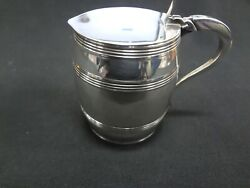 And Co. Barrel Shaped Sterling Silver Creamer Cup Made In England