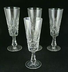 Four Kylemore Champagne Flutes Waterford Crystal Made In Ireland