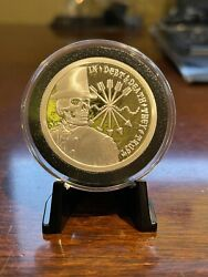 2013 Sbss Debt And Death Proof-like – 1 Oz. Silver Double Obverse Round